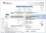 Certificate ISO 9001 Quality Austria