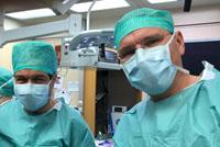 Prof. Riss und Prof. Scheuba im OP